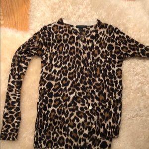 JCrew Leopard sweater set
